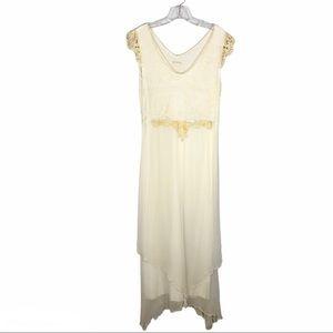Nataya Lace Layered Flowy Romantic Dress Wedding S